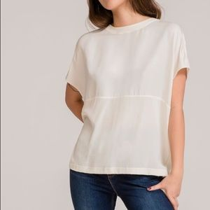 Grana Chinese Silk Drip Shoulder Contrast Blouse